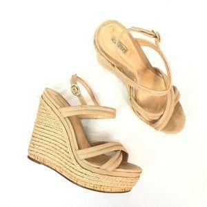 Schutz Platform Wedge Evy Espadrille Sandals
